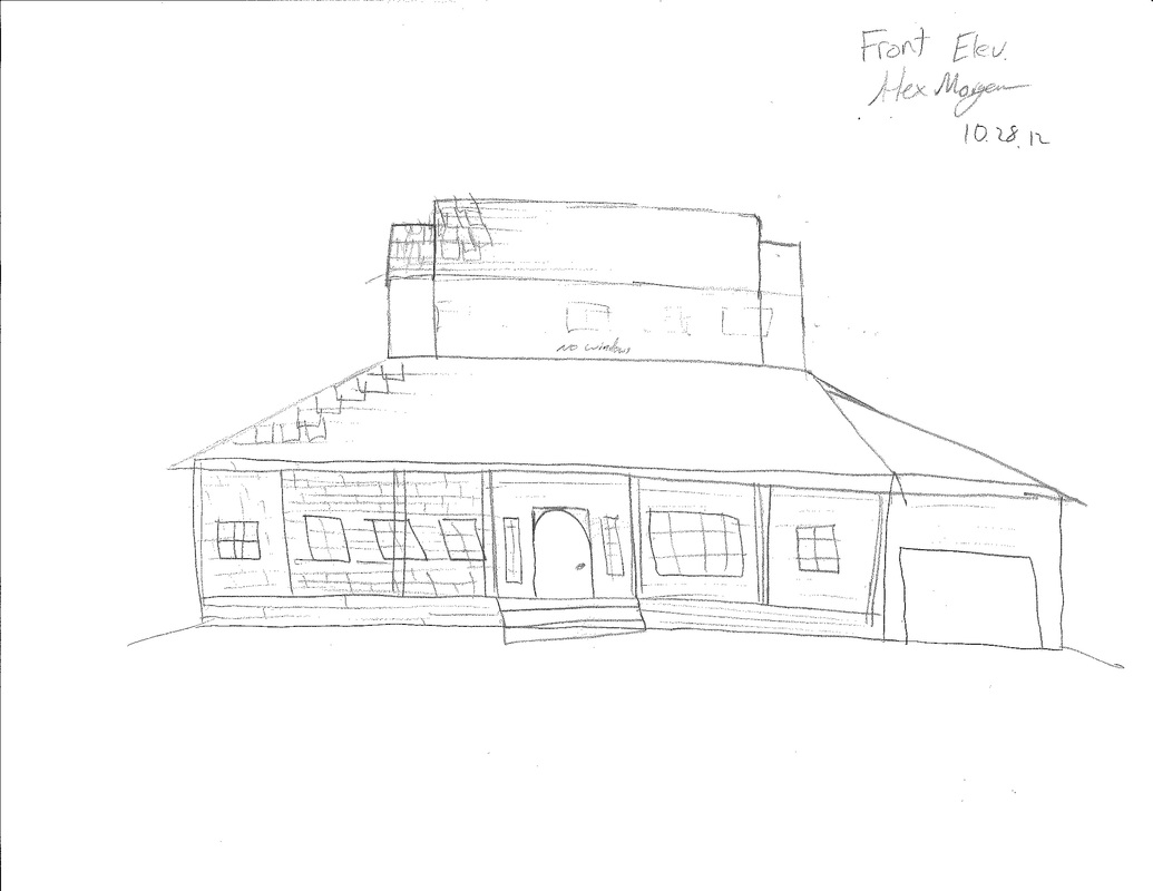 Front elevation sketch dream house
